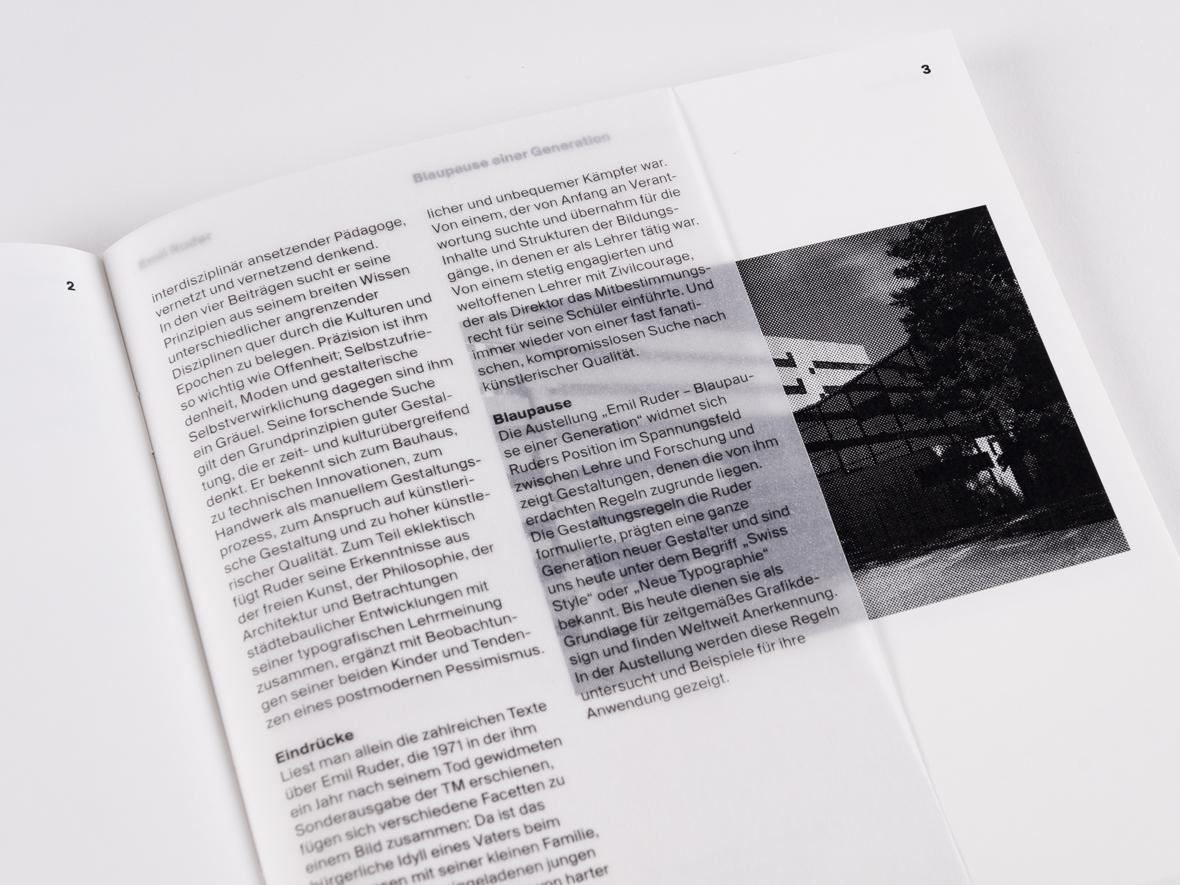 Emil Ruder – Blaupause einer Generation : Konzeption und Entwurf